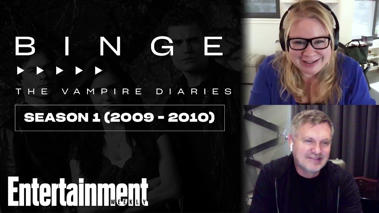 'The Vampire Diaries' Creators Talk Season 1's Katherine Twist | EW's Binge