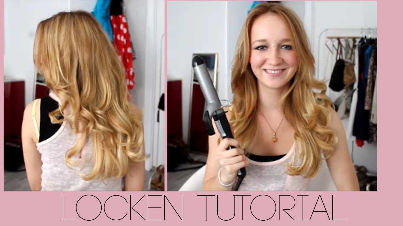 LOCKENTUTORIAL  OUTTAKES  Groe Locken mit dem Lockenstab  YouTube