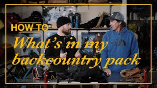 How to Snowboard: What's in my Backcountry Pack