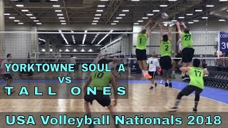 Yorktowne Soul A vs Tall Ones (Day 1, Match 1) - USAV Nationals 2018 Volleyball Tournament