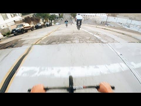 INTENSE BMX HILL BOMB RACE *NO BRAKES*