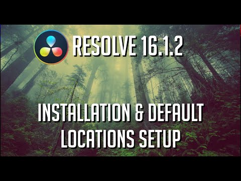 DaVinci Resolve 16 Setup Guide for Setting Defaults: Installation, Project Files, Cache, Videos