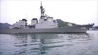 DDG175イージス艦(みょうこう)とすれ違う