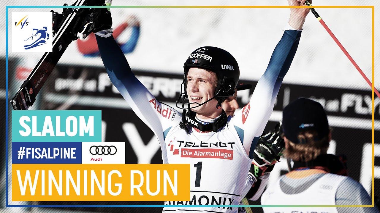 Clement Noel Wins Chamonix Slalom