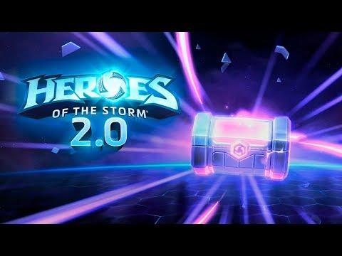 видео: hots 2.0 - Открываем 120 контейнеров - легендарный лут -  heroes of the storm