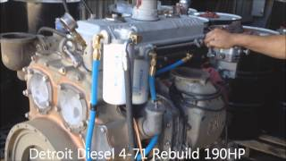Detroit Diesel 4-71 Rebuild 190HP Run Test