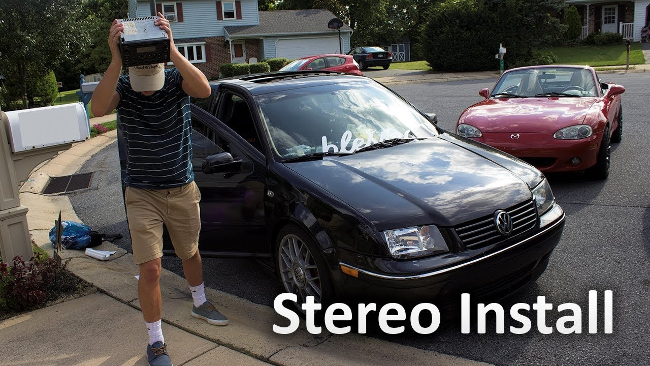 How To Install An Aftermarket Stereo 2004 Volkswagen Mk4 Jetta Gli 2002 Radio Wiring
