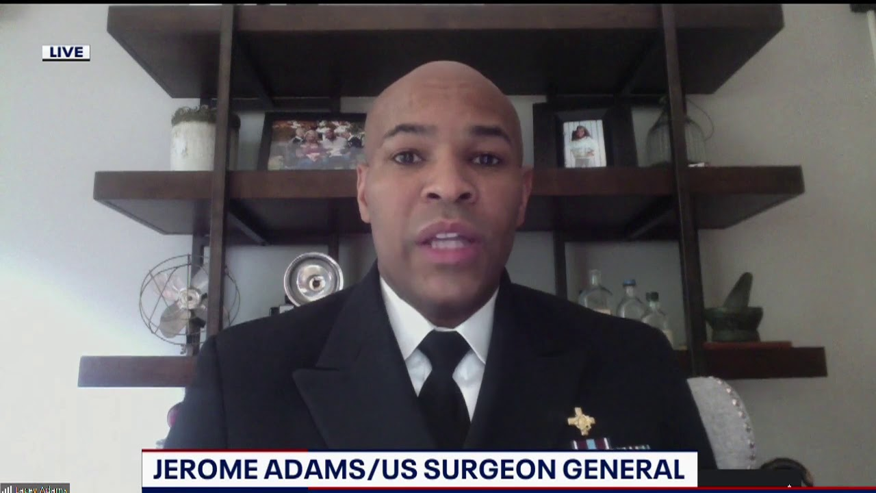 US Surgeon General on why he doesn't support a nationwide mandate requiring face coverings
