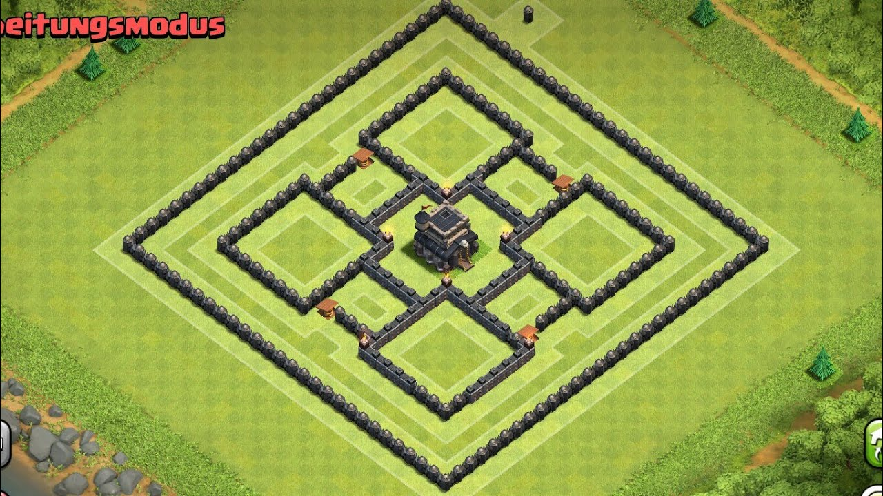 Clash of clans rathaus lvl 9 trophy base youtube