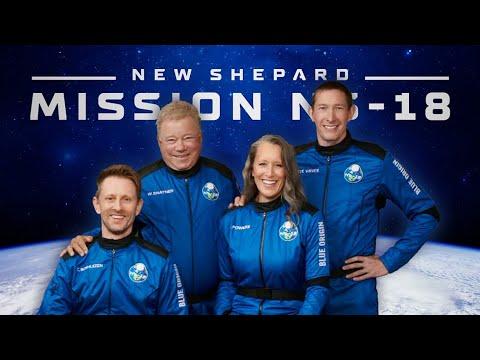 Watch William Shatner fly to space (Blue Origin New Shepard-18 supercut)