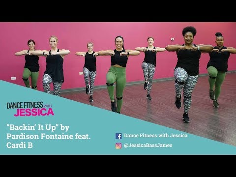 """""""Backin It Up"""" by Pardison Fontaine Ft Cardi B - Dance Fitness With Jessica"""