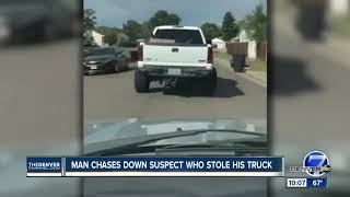 Denver man gets into car chase to get his stolen truck back