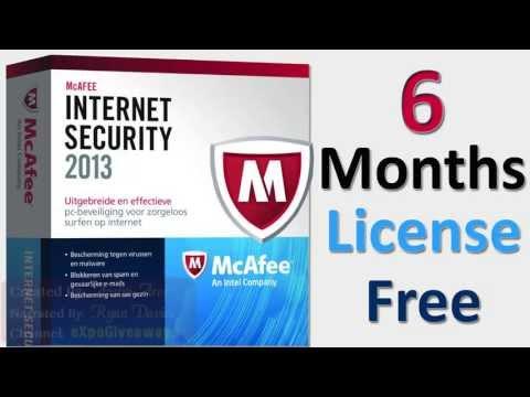 McAfee Internet Security 2013! 6 Months License Key(Free MCafee Antivirus)