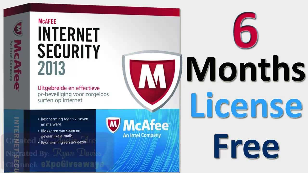 McAfee Internet Security 2013! 6 Months License Key(Free MCafee Antivirus)