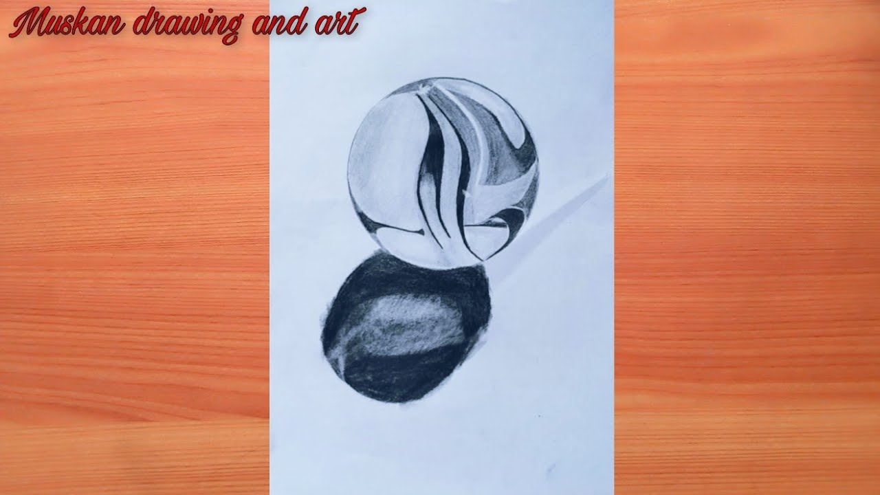 How to draw realistic ball easy way   