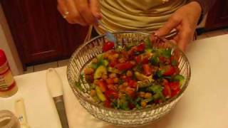 Betty's Colorful Chickpea Salad
