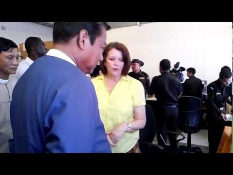 Ann Stewart Baker and Minister U Khin Yi