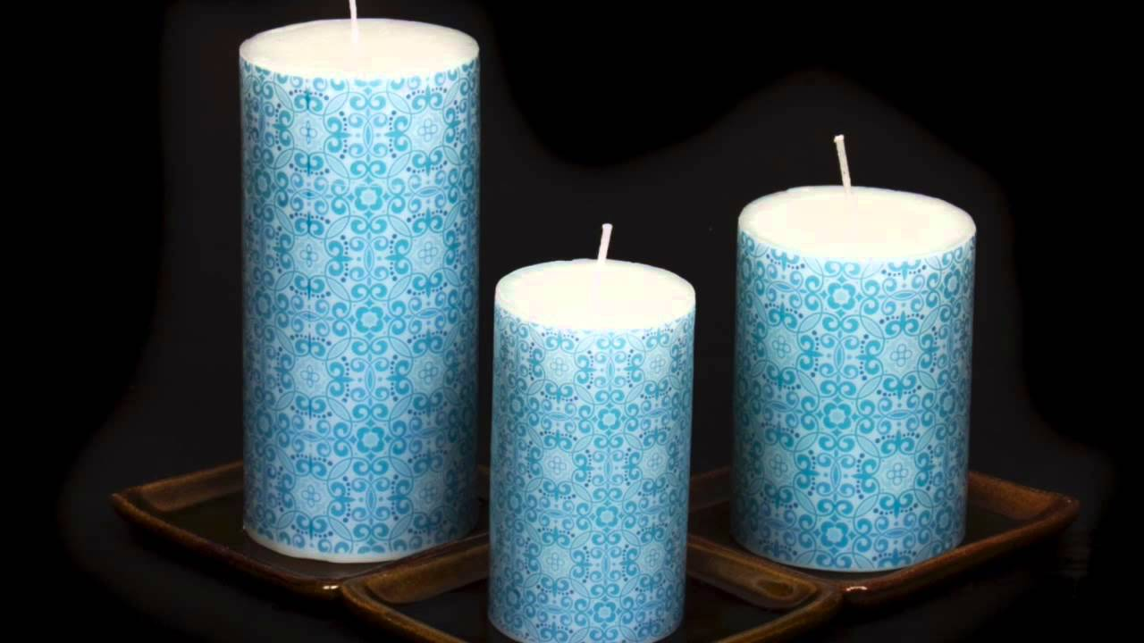 Designer Printed Candle Home Interior Design Video Youtube