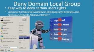 MCITP 70-640: Deny Domain Local Group
