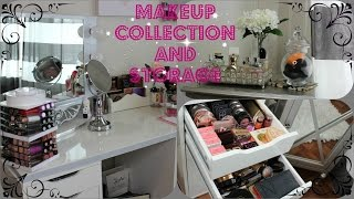 Vanity Tour And Makeup Collection!