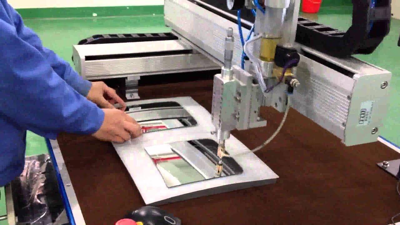 2 Axis Convex Truck Mirror Cutting Machine Youtube