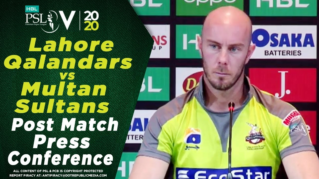 Chris Lynn Post Match Press Conference | Lahore Qalandars vs Multan Sultans | HBL PSL 2020