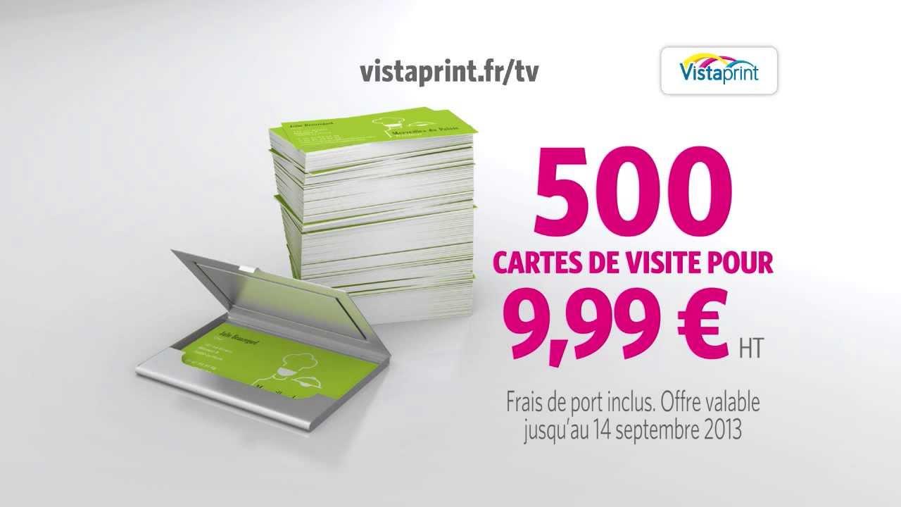Pub TV CARTES DE VISITE Vistaprint