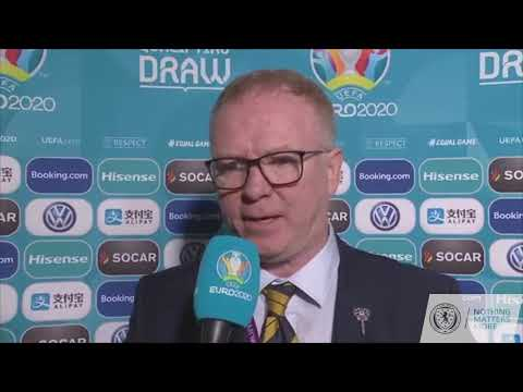 Alex McLeish | EURO 2020 Qualifying Draw Reaction