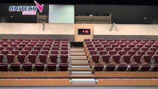 Telescopic seating system, Retractable seating system, Stadium seating, by Unitech System