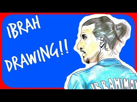 DESENHANDO: Zlatan Ibrahimović (Drawing: Ibrahimovic)