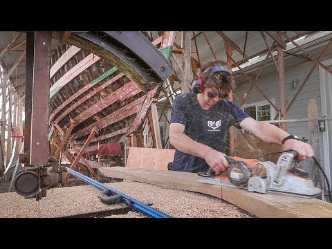 Building Boat Frames using Traditional Tree-Nails - Rebuilding Tally Ho EP28