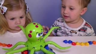 ✿ Челлендж ОСЬМИНОГ ЖОЛИ Развлечение для Детей Челленджи для детей OCTOPUS JOLLY challenge game