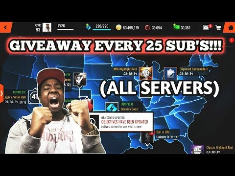 3MIL GIVEAWAY EVERY 25 SUBS(ALL SERVERS)!!! THE ULTIMATE NBA LIVE MOBILE 18 LIVE STREAM GRIND(DAY 4)