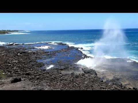 The Spouting Horn in Kauai, Hawaii