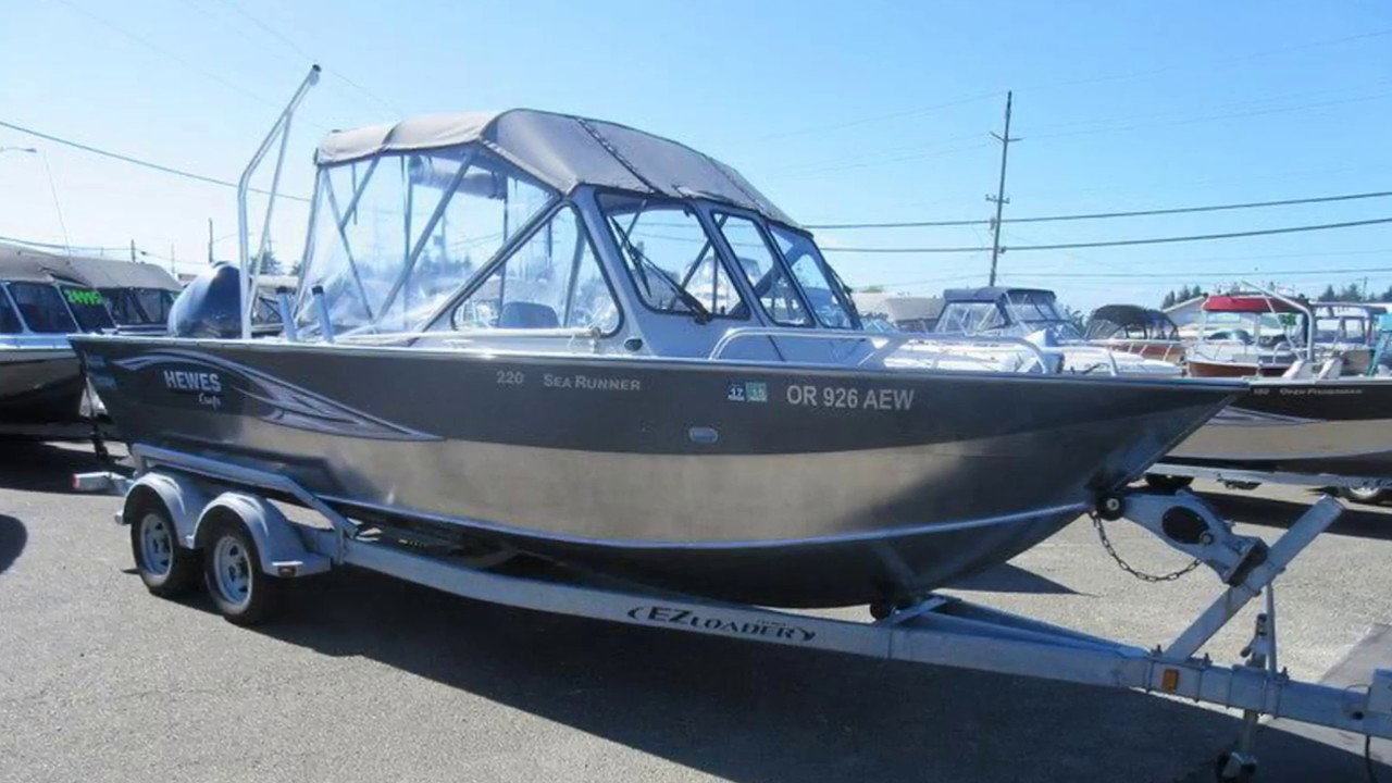 Used 2012 Hewescraft 220 Sea Runner Boat For Sale near Portland and Eugene,  OR!