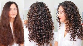 видео Причёски на длинные кудрявые волосы