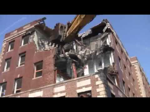 Demolition of Smith Hall at UMass Lowell Begins