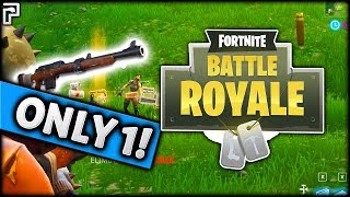 The ONE WEAPON CHALLENGE In Fortnite: Battle Royale! (CRAZY Clutches!)