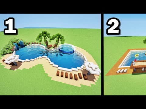 Comment faire 2 piscines de luxe sur MINECRAFT ? tutoriel ! - YouTube