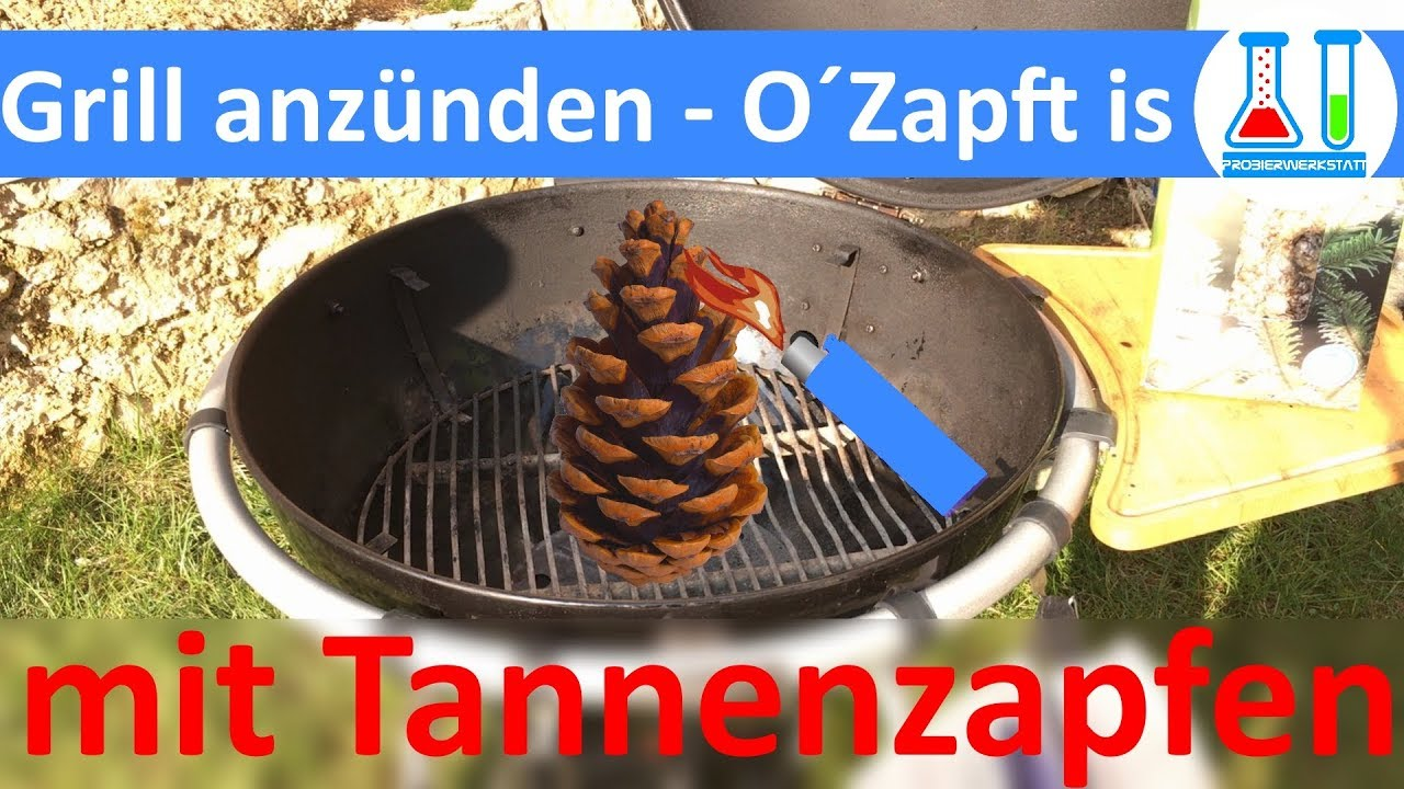 Weber Holzkohlegrill Anheizen : O´zapft is: rösle no. 1 f60 holzkohle kugelgrill mit tannenzapfen