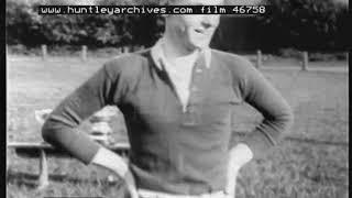 Wonderful 1929 Scottish Rugby film.  Hawick Greens Rugby Union Team.  Archive film 46758