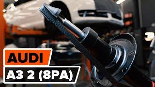 Kuinka vaihtaa etu joustintuet AUDI A3 2 (8P1) -merkkiseen autoon [AUTODOC -OHJEVIDEO]