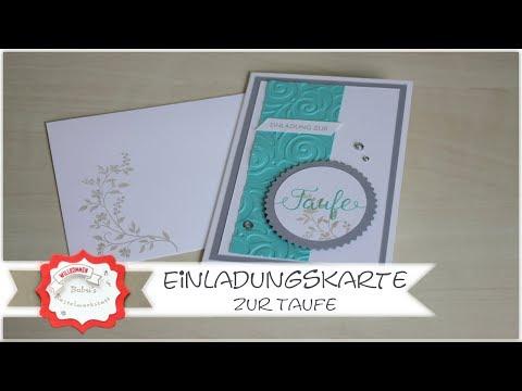 Einladungskarte Basteln Zur Taufe Mit Produkten Von Stampin
