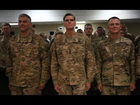 CJTF-OIR: 9-7-17. Transfer Of Authority Speeches From General Votel, Townsend & Funk.