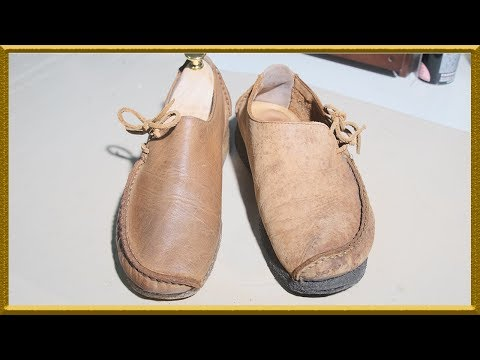 [ASMR] Clean & restore 'Clarks' lugger sew,clean outsole