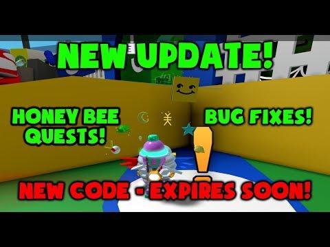UPDATE! - HONEY BEE QUESTS - NEW CODE - Roblox Bee Swarm Simulator