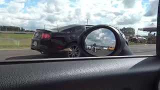 #288 Rachão 201m: Mini Cooper S (184cv) vs Mustang 5.0 V8 Manual