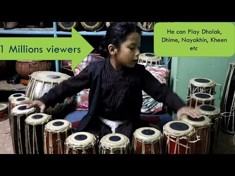 Talented  junior Madal player of Nepal/ Instrument Nepal/ First time play
