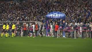 PES 2014   UCL - Gameplay - FC Barcelona - AC Milan