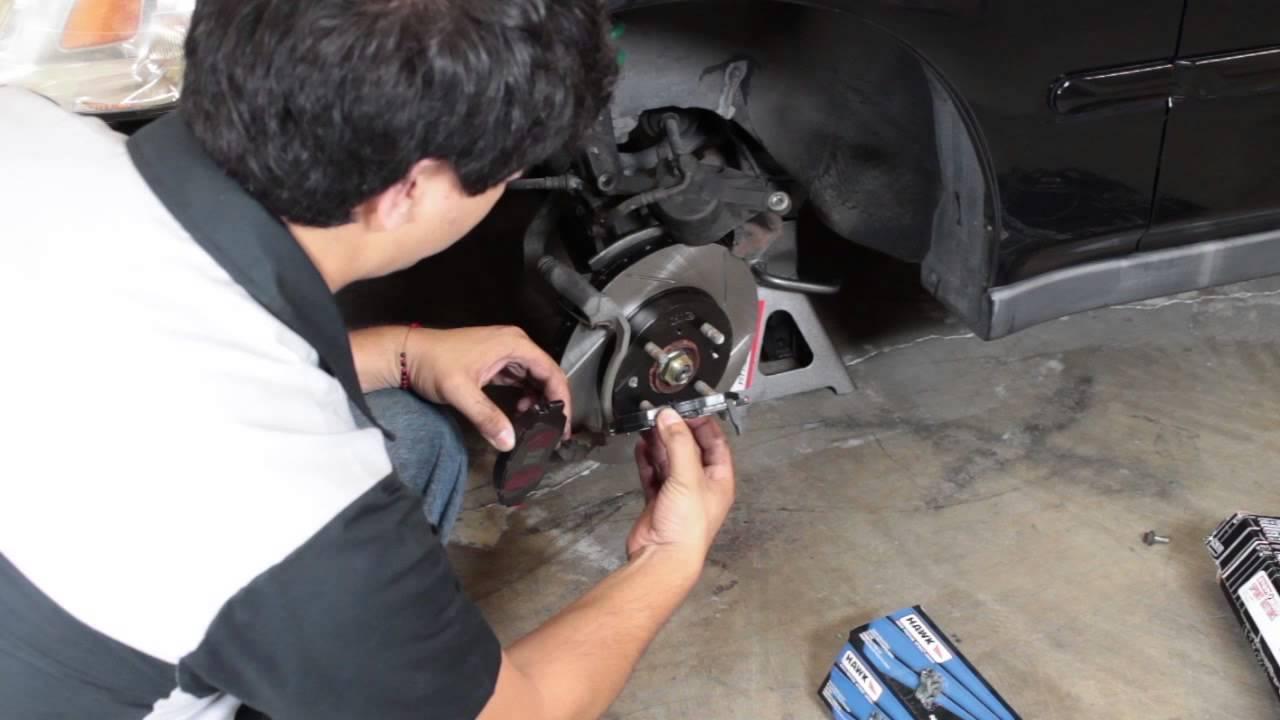 Honda Civic Brake Rotors Power Slot Rotors and Hawk Brake Pads Install - Honda Civic 1996 1997 ...